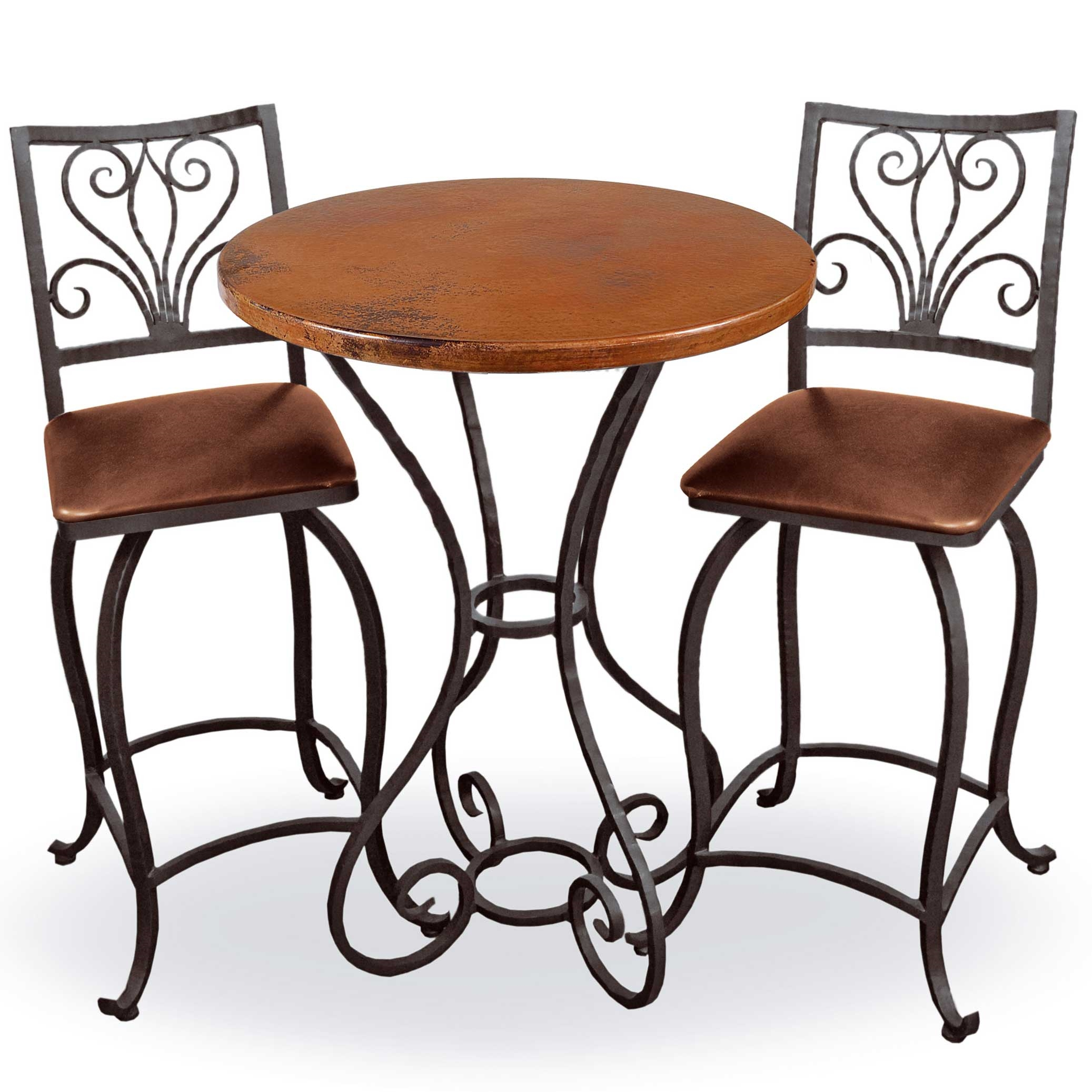 Alexander bar height table 40 in tall top and iron base finish options larger photo watchthetrailerfo