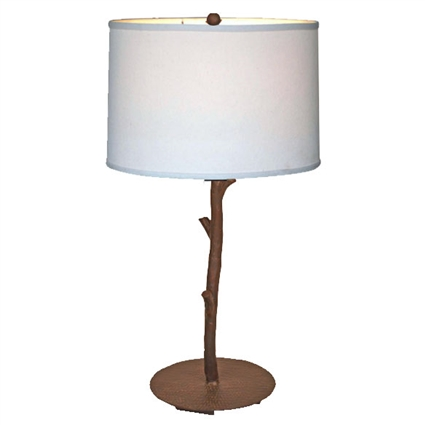 Pictured is our Rustic style wrought iron South Fork Table Lamp hand-made by Mathews & Co.