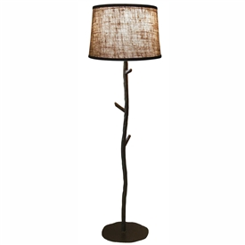 Pictured is our Rustic style wrought iron South Fork Floor Lamp hand-made by Mathews & Co.