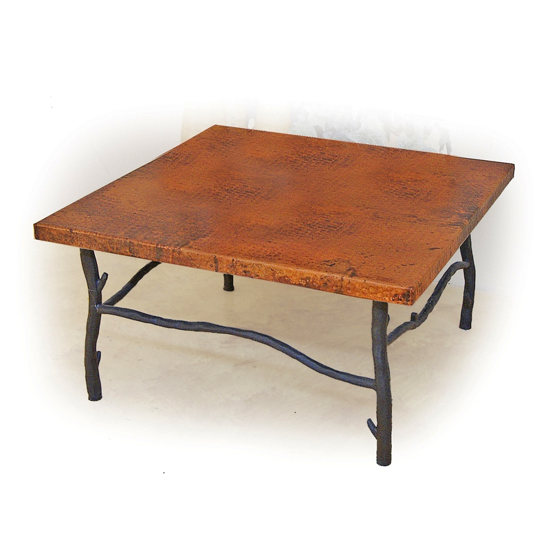 Black Coffee Table Sheffield: Rustic South Fork Iron Coffee Table