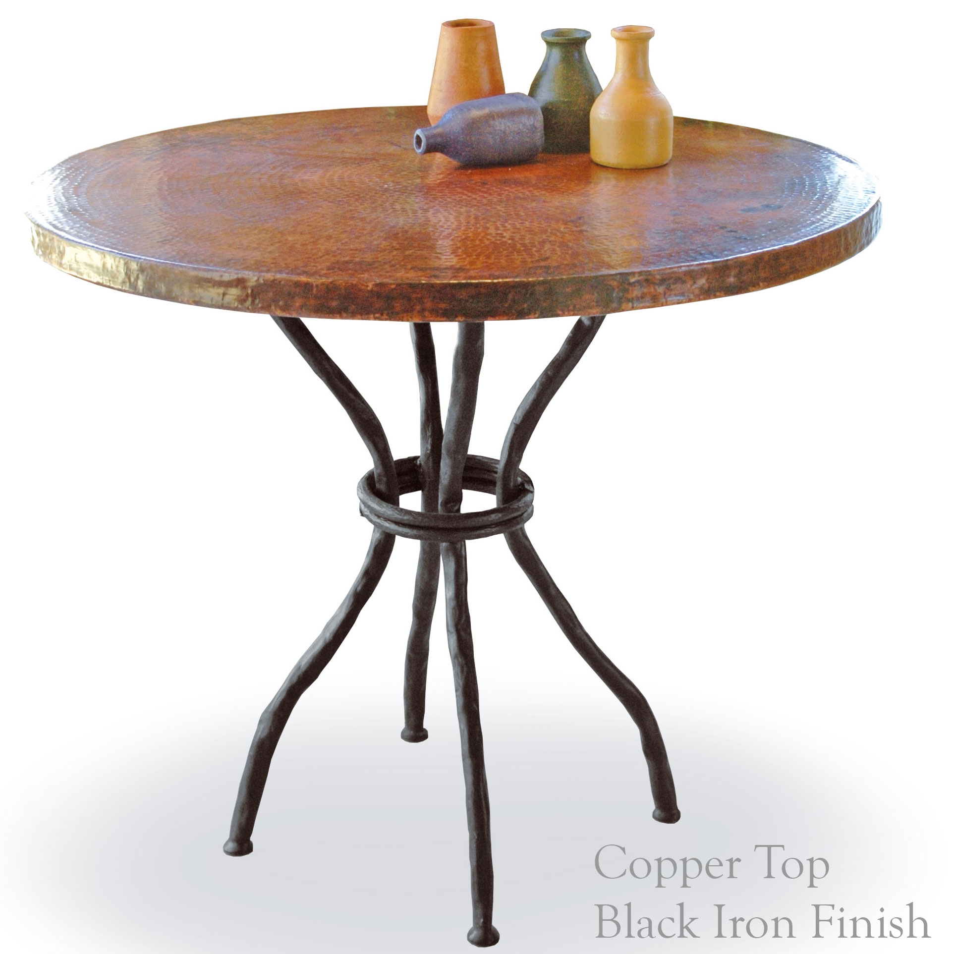 Woodland Bistro Table With 36 Round Copper Top