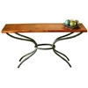 "Pictured here is the Woodland Console Table with 60"" x 14"" Top hand crafted by skilled artisan blacksmiths."