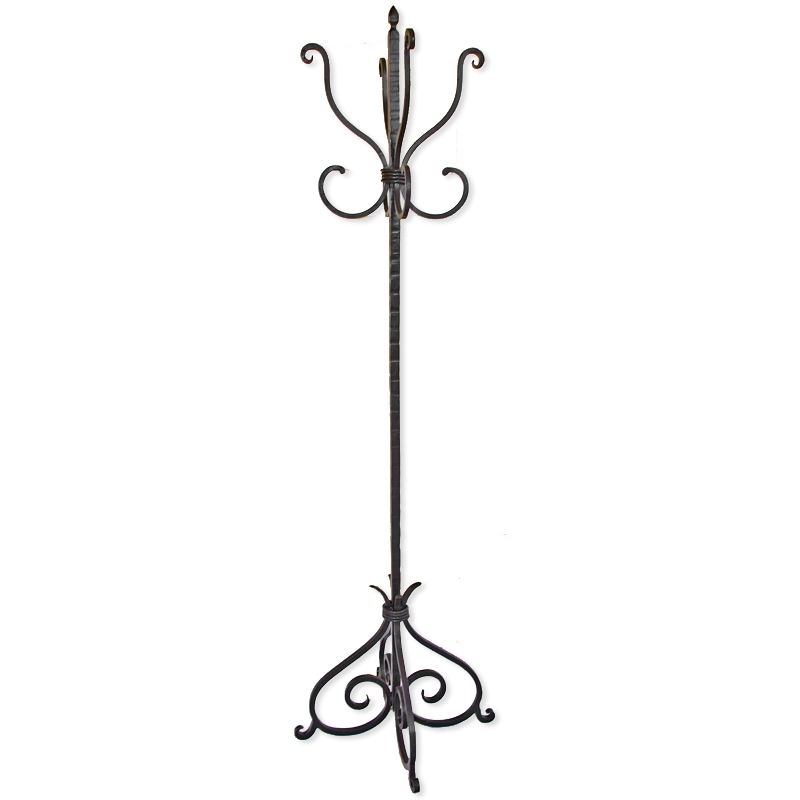 Wrought Iron Standing Coat Tree From Mathews And Company Larger Photo