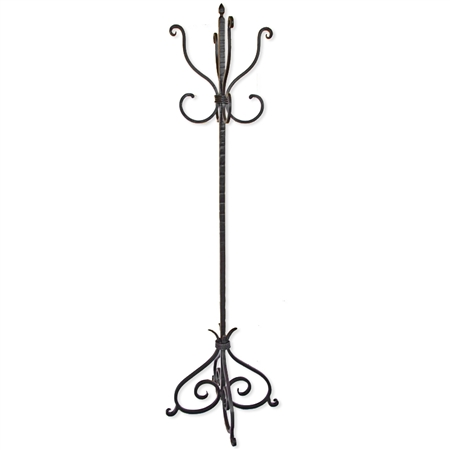 Pictured here is the Alexander Wrought Iron Standing Coat Tree from Mathews and Company