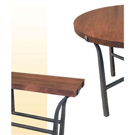 Wrought Iron Old World Pine Top by Mathews & Co.