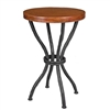 "Pictured here is the Woodland Accent Table with 18"" Round Top hand crafted by skilled artisan blacksmiths."