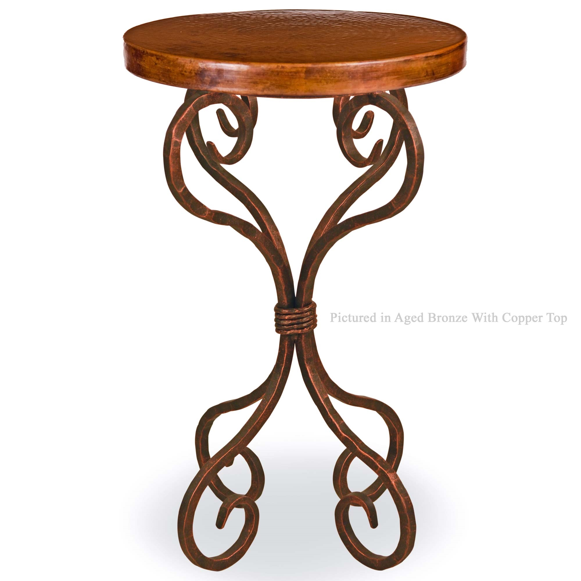 High Quality Pictured Here Is The Alexander Wrought Iron Accent Table With 18 In. Round  Copper
