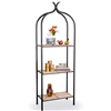 Pictured is our Contemporary style Milan Double Wrought Iron Etagere hand-made by Mathews & Co.