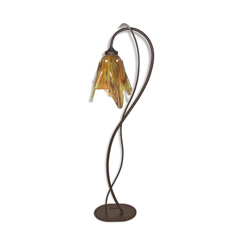 Wrought iron wild vine floor lamp with glass shade timeless price 47470 aloadofball Choice Image