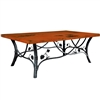"Pictured here is the Piney Woods Cocktail Table with 50"" x 30"" Top hand crafted by skilled artisan blacksmiths."