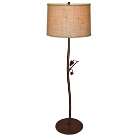 Pictured is our Rustic style wrought iron Piney Woods Floor Lamp hand-made by Mathews & Co.
