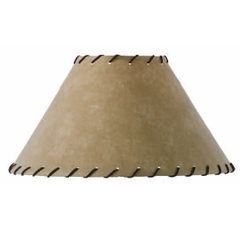 Parchment Table Lamp Shade w/Leather Trim 18""