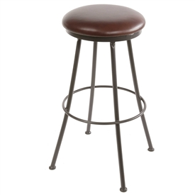 "25"" Monticello Counter Stool hand-forged by Stone County Ironworks, sold at www.TimelessWroughtIron.com"