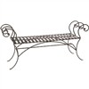 Pictured here is the Waterbury Wrought Iron Bench with no back rest, measuring 63-inches wide.