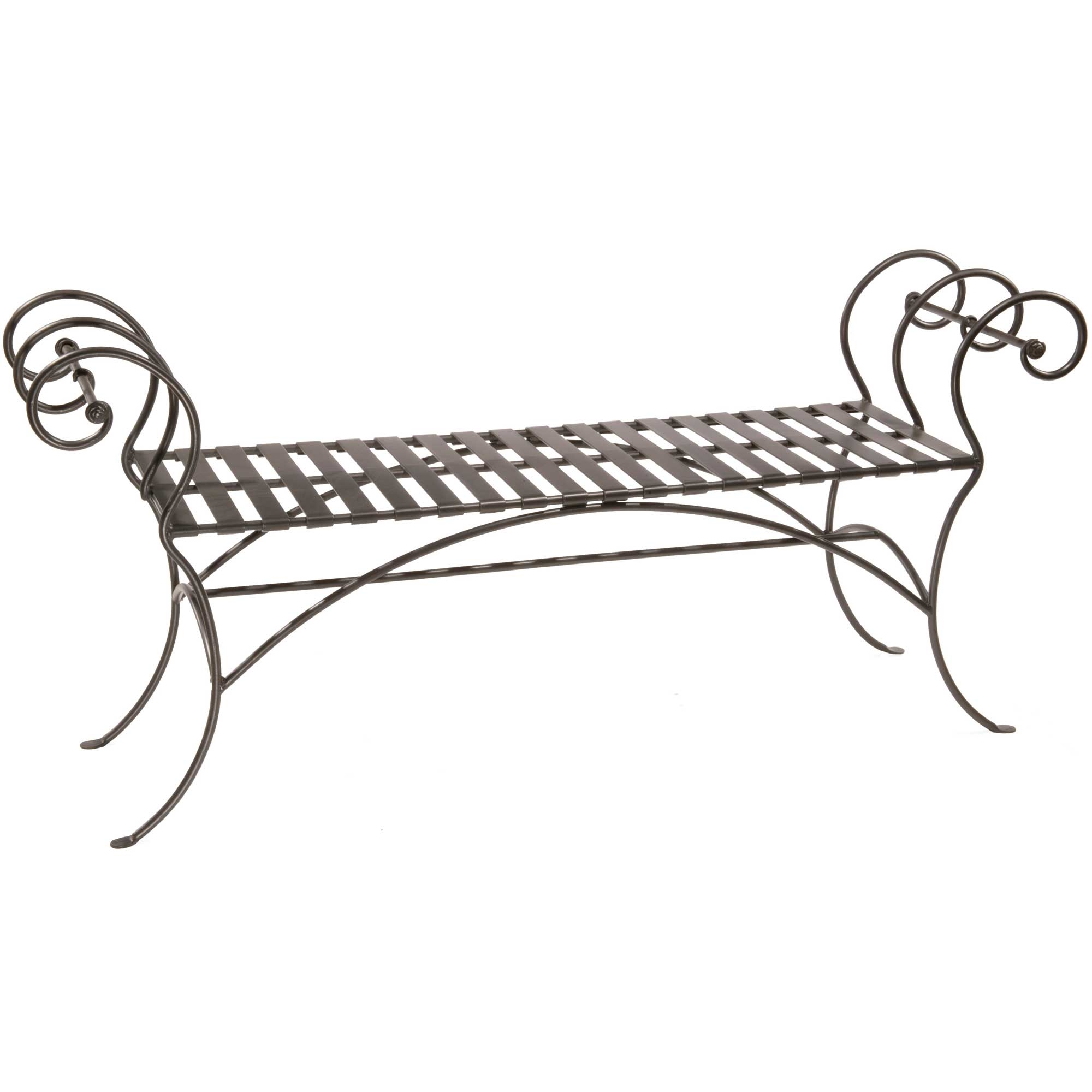 Waterbury Wrought Iron Bench with No Back Rest