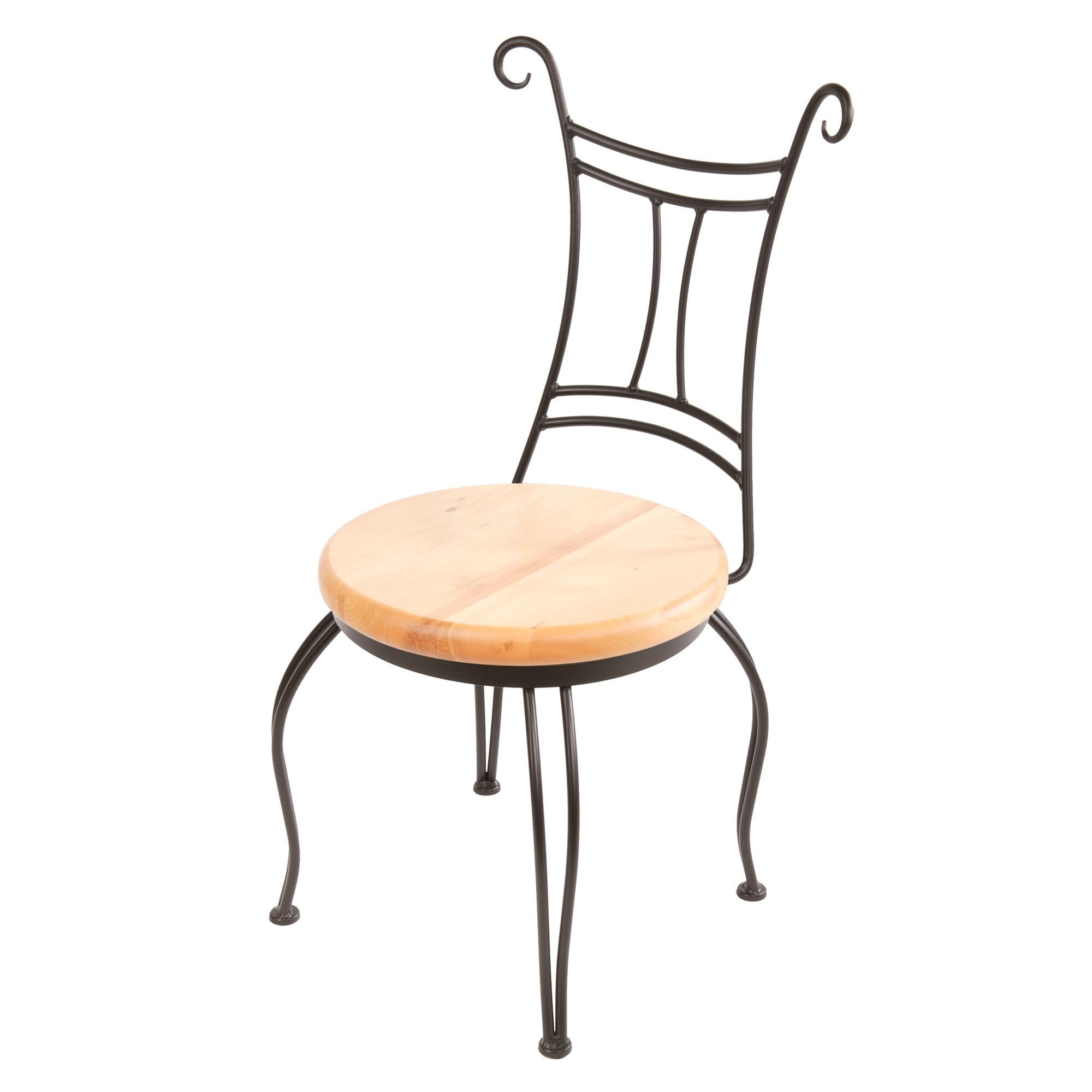 Wrought Iron Waterbury Side Chair By Stone County Ironworks