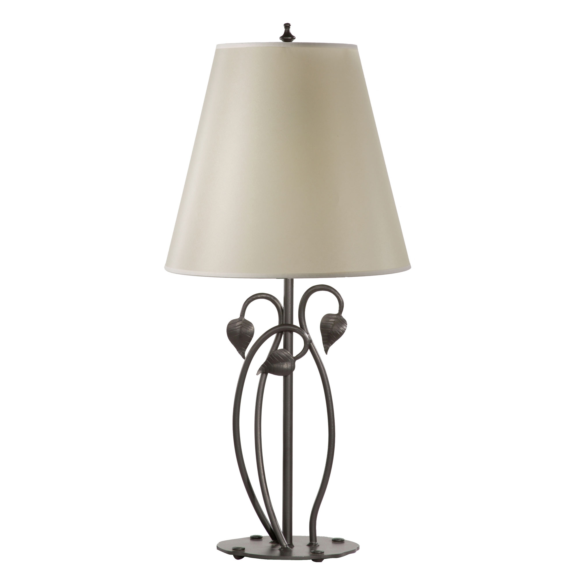 Wrought iron ginger leaf table lamp by stone county ironworks ginger leaf table lamp aloadofball Image collections