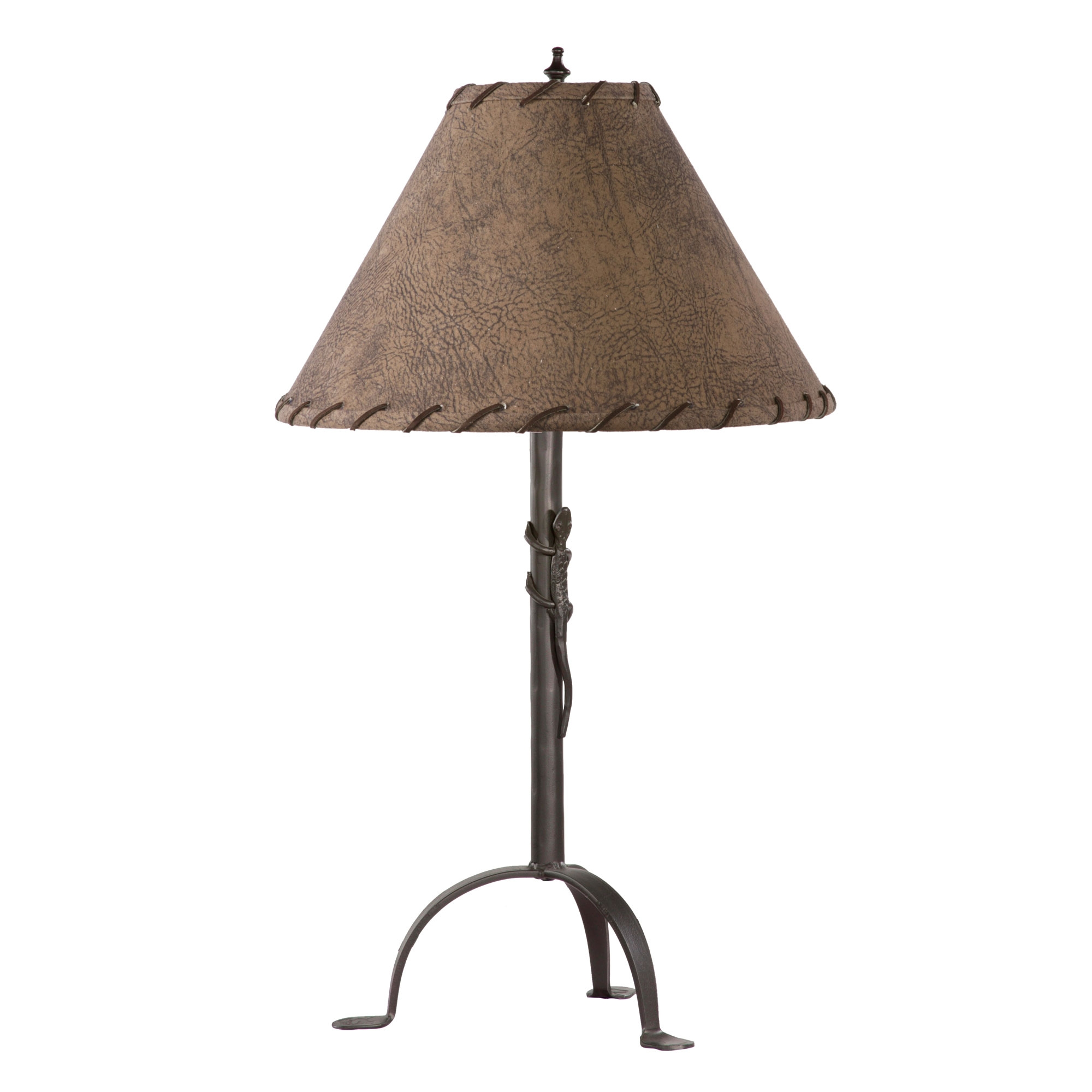 Wrought iron gecko table lamp by stone county ironworks gecko table lamp mozeypictures Gallery