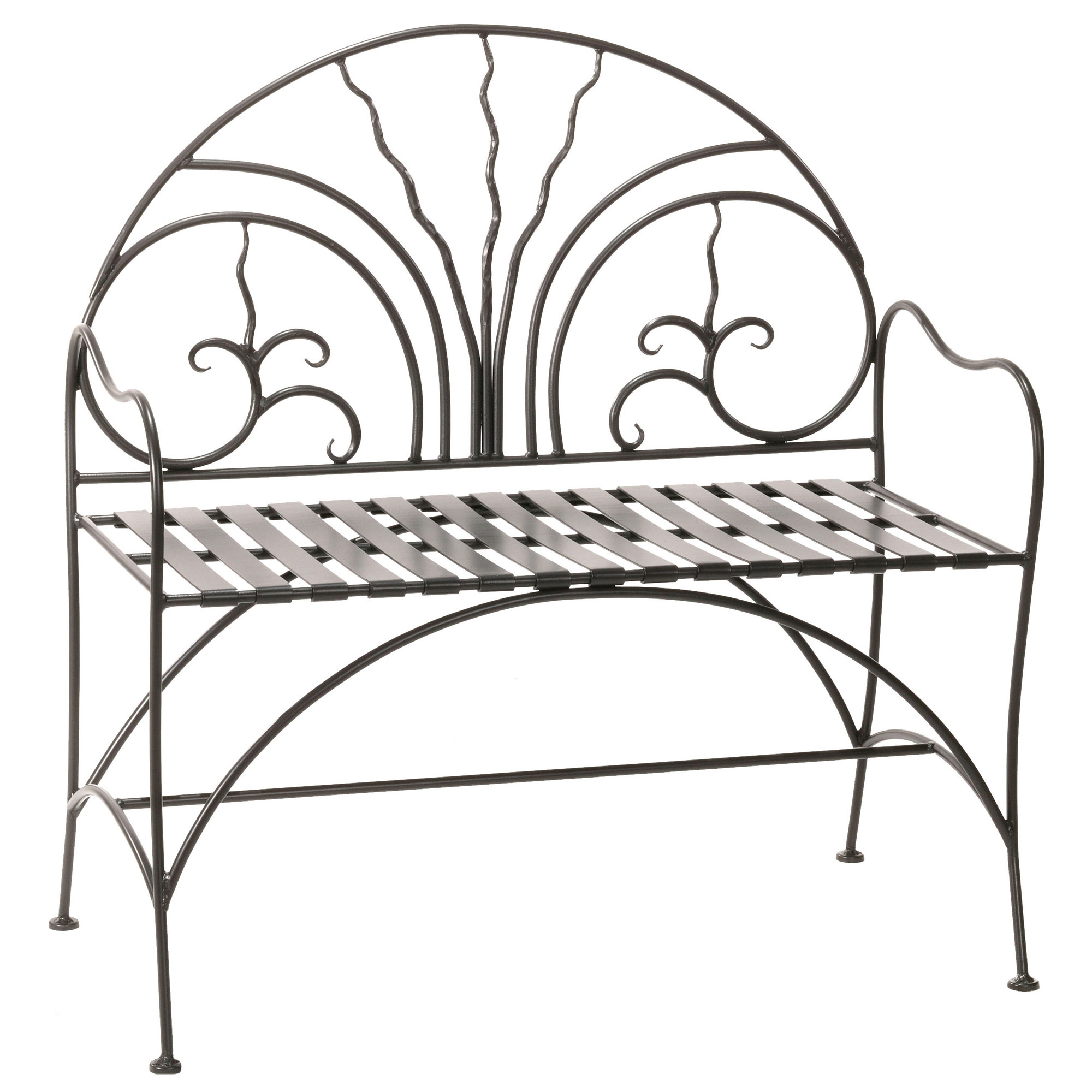 Stupendous Wrought Iron 40 Inch Courtyard Bench Ibusinesslaw Wood Chair Design Ideas Ibusinesslaworg