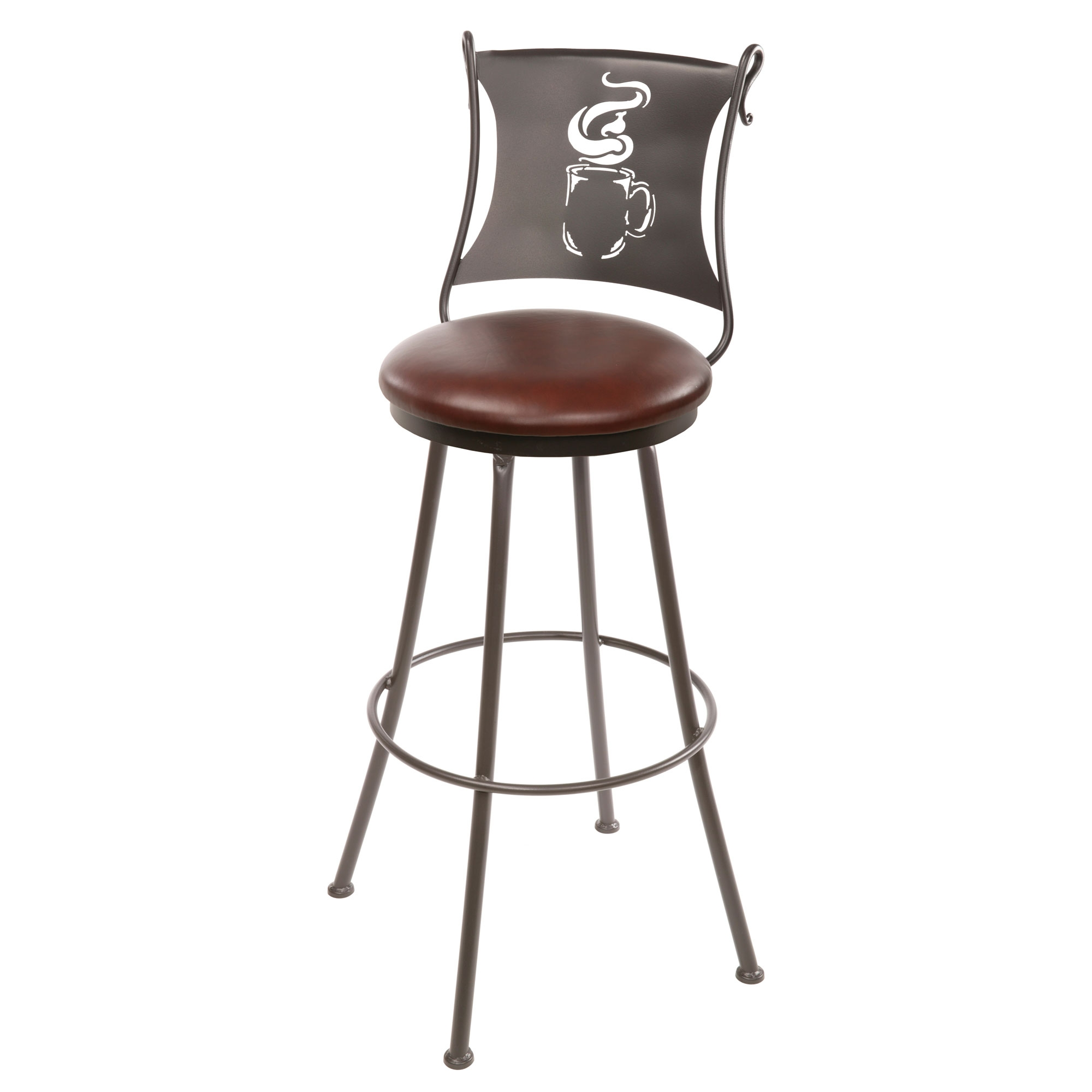 Pictured here is the Latte Counter Stool that has a in seat height and