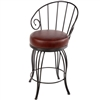 Pictured here is the Bella Wrought Iron Bar Stool with 30-inch seat height hand forged by Stone County Ironworks