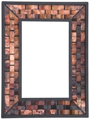 "Rushton Wall Mirror 34"" x 38"" Copper"