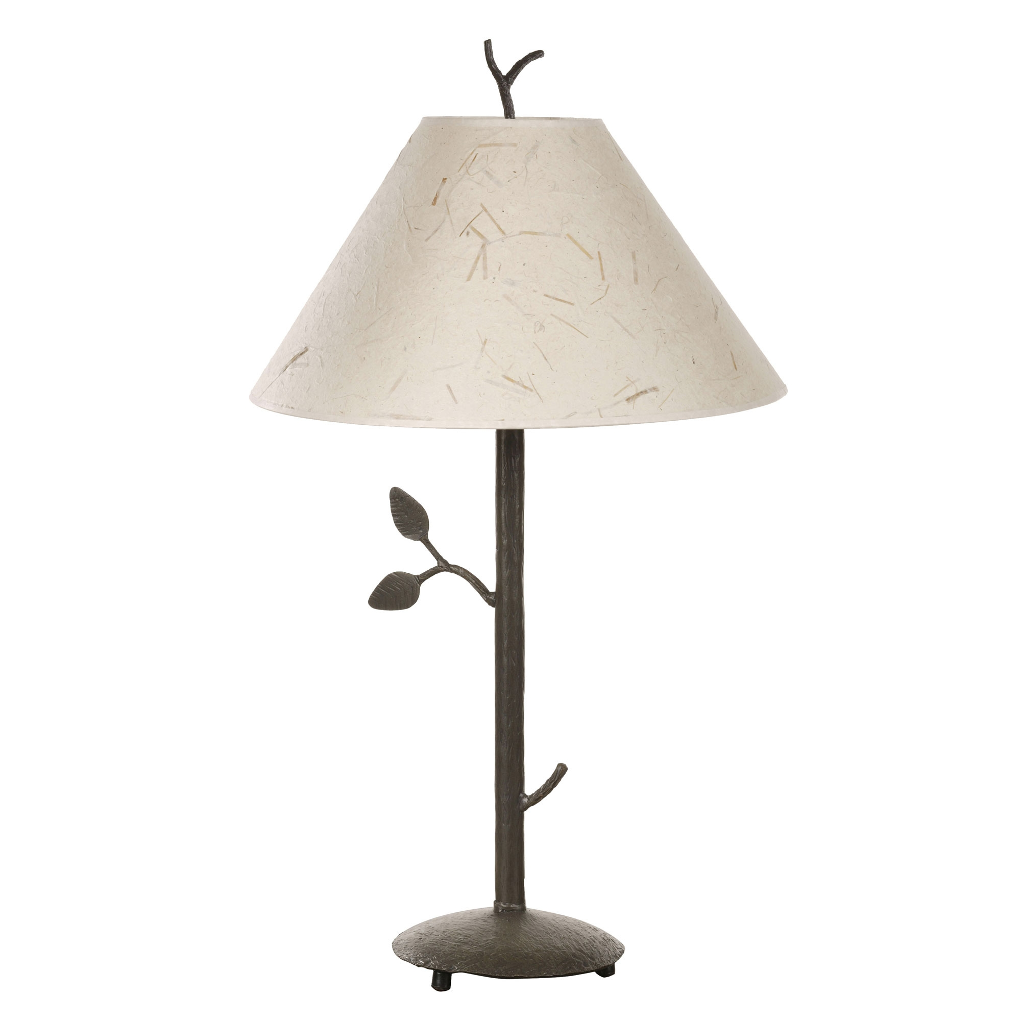 Wrought iron leaf collection table lamp by stone county ironworks leaf table lamp aloadofball Image collections