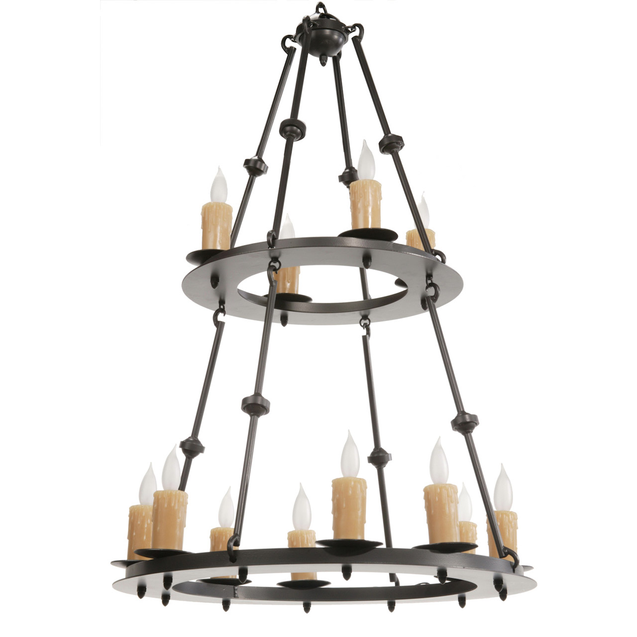 Nova 12 Light Two Tier Chandelier W Candle Drip Cover