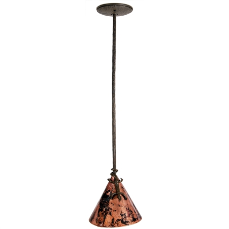 Gecko Pendant Lamp w/ Copper Shade