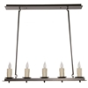 Nova Linear Chandelier 5 Light w/ Drip Candle Cover