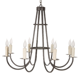 Cedarvale Chandelier 8-Arm w/ Candle Drip Cover