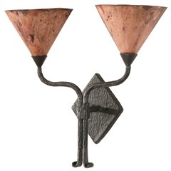 Cedarvale Wall Sconce Double w/Copper Shade
