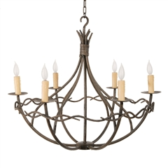 Norfork Chandelier 6-Arm w/ Candle Drip Cover