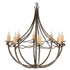 Norfork Chandelier 8-Arm w/ Candle Drip Cover