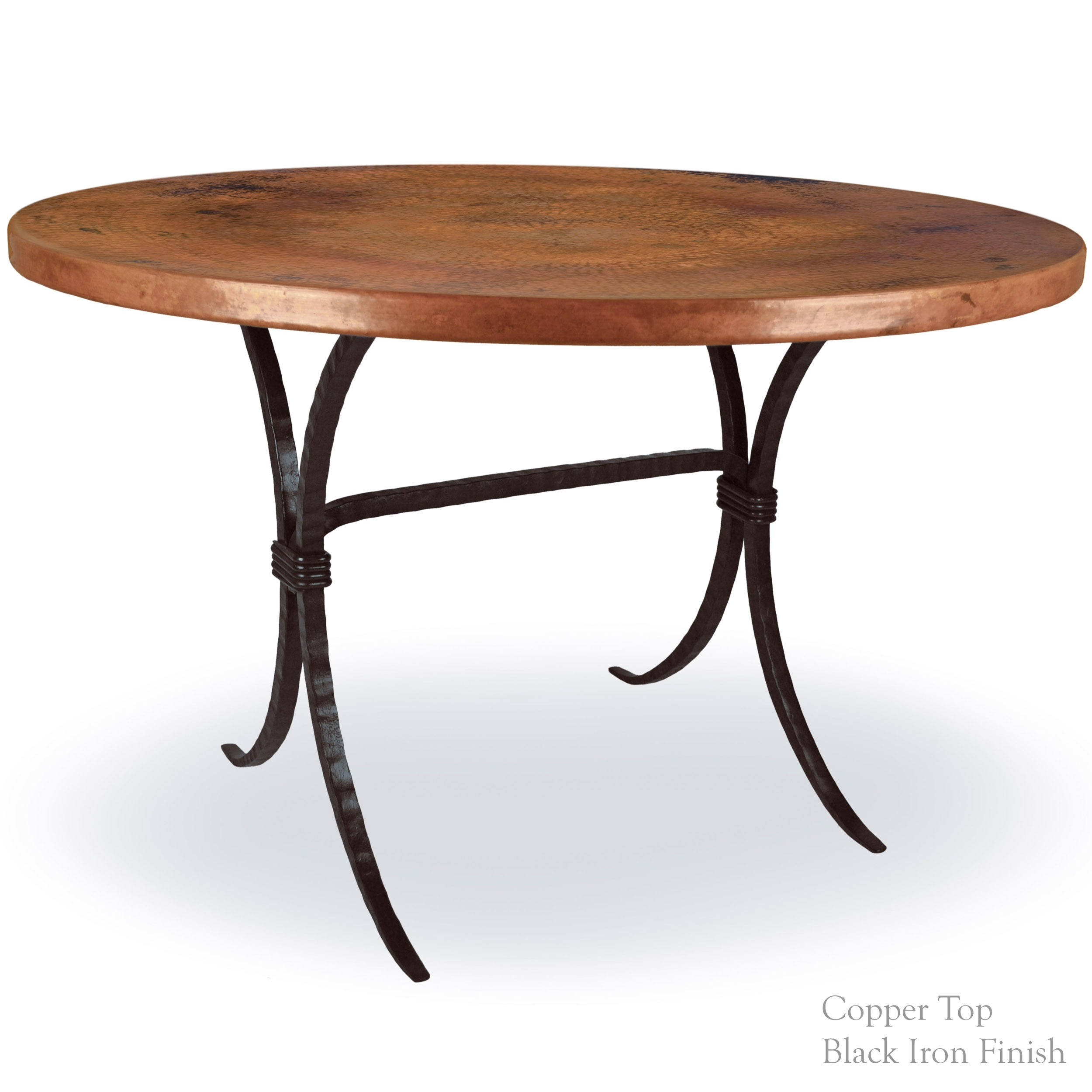 Contemporary Wrought Iron Salisbury Dining Table 48in Round Top