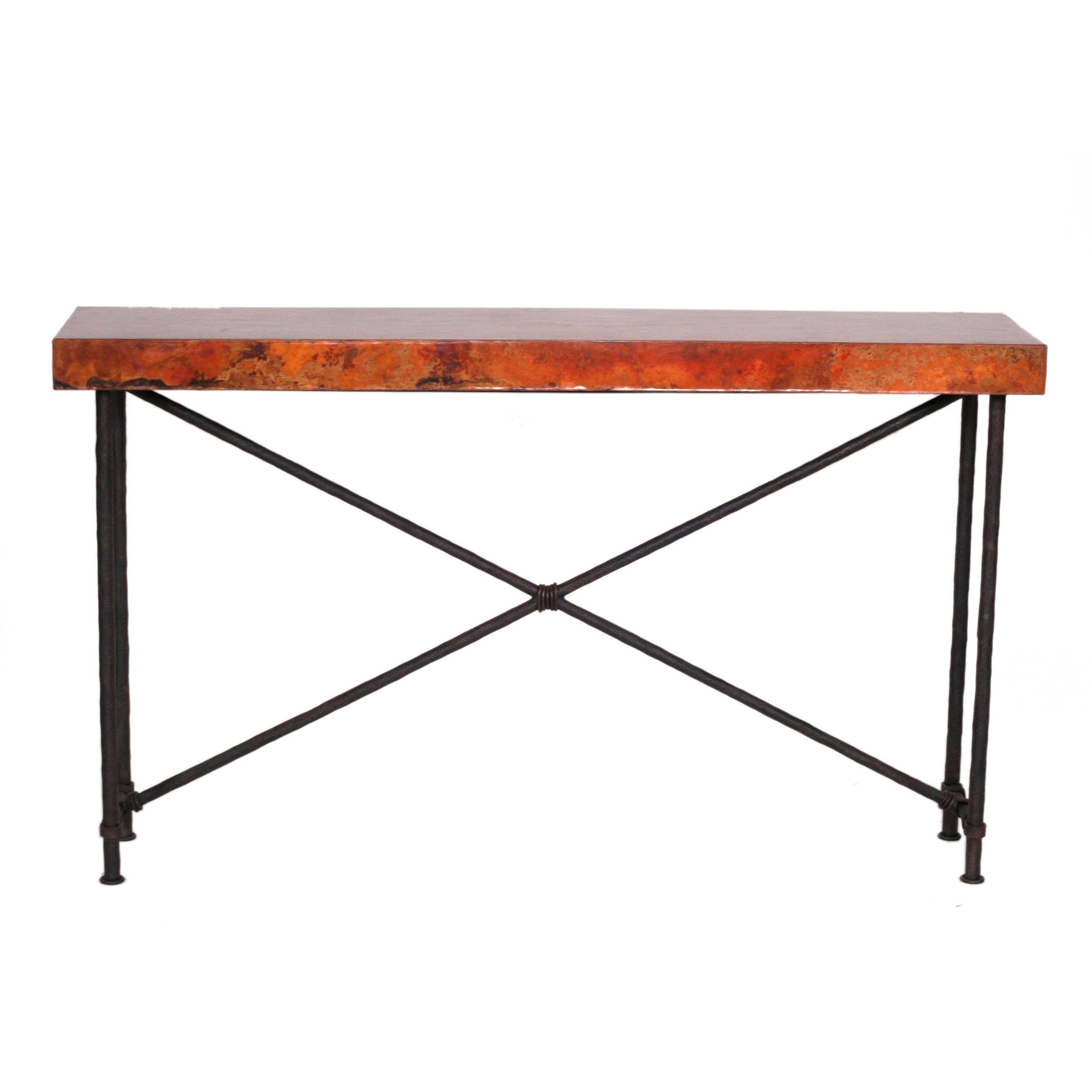 Burlington Wrought Iron Console Table 60 x 14in Top
