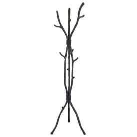 Wrought Iron South Fork Standing Coat Rack handmade by Mathews & Co. can be purchased from Timeless Wrought Iron