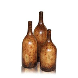 Pictured here is the Columbia Stoneware Bottles Set of 3 from Mathews and Company