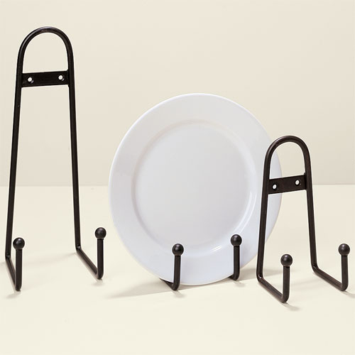 Wrought Iron Ball Design Plate Stand - small by Global Views
