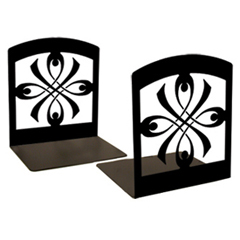 Wrought Iron Ribbon Book Ends