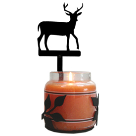 Wrought Iron Deer Large Jar Sconce