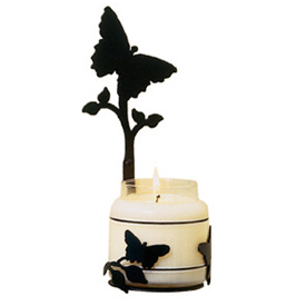 Wrought Iron Butterfly Large Jar Sconce