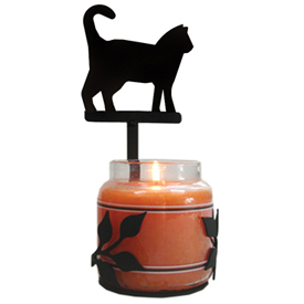 Wrought Iron Cat Large Jar Sconce