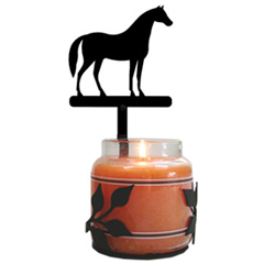Wrought Iron Standing Horse Large Jar Sconce