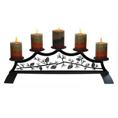 Wrought Iron Pinecone Fireplace Pillar