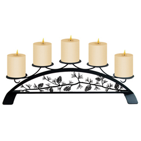 Wrought Iron Pinecone Table Top Center Piece