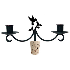 Wrought Iron Hummingbird Wine Bottle Topper