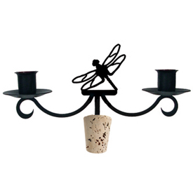 Wrought Iron Dragonfly Wine Bottle Topper