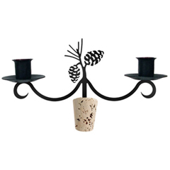 Wrought Iron Pinecone Wine Bottle Topp