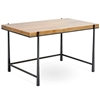 Pictured here is the Cooper Desk with with charcoal iron finish and Maple top by Charleston Forge.